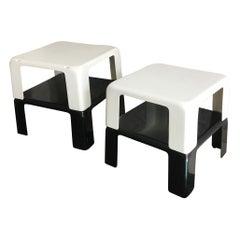 """Mario Bellini Set 4 Nestin /Stackable Tables """"Quattro Gatti"""", 1960, Italy"""
