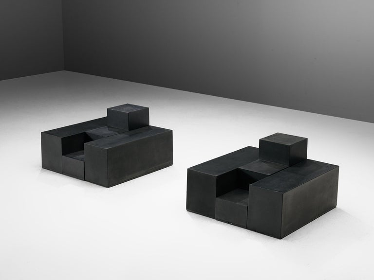 Mid-Century Modern Mario Bellini Side Tables of Scacchi Series For Sale