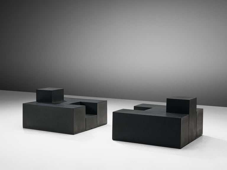 Mario Bellini Side Tables of Scacchi Series In Good Condition For Sale In Waalwijk, NL