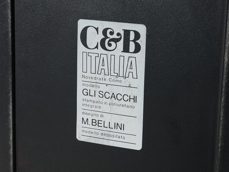 Plastic Mario Bellini Side Tables of Scacchi Series For Sale