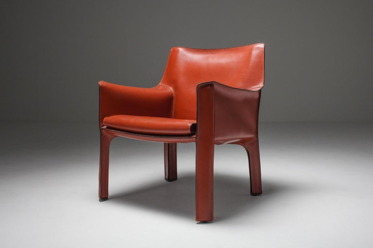 Mario Bellini's CAB Armchair 414 for Cassina Italy For Sale 3