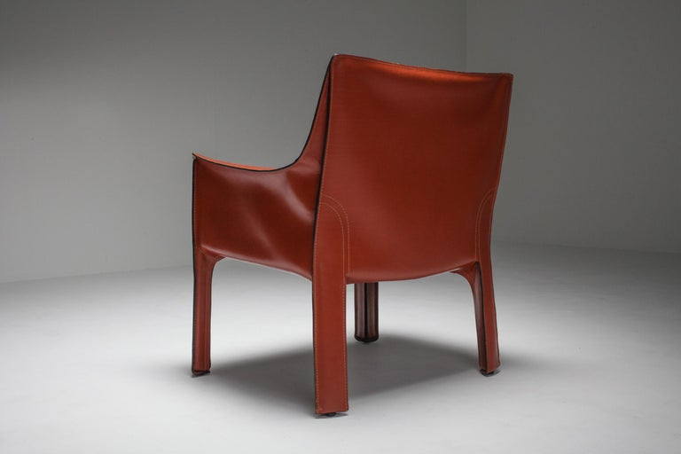 Mario Bellini's CAB Armchair 414 for Cassina Italy For Sale 4