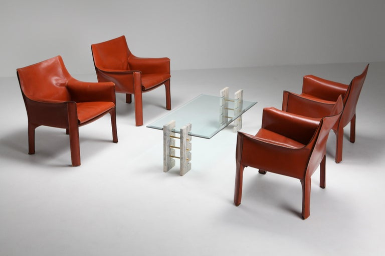 Post-Modern Mario Bellini's CAB Armchair 414 for Cassina Italy For Sale