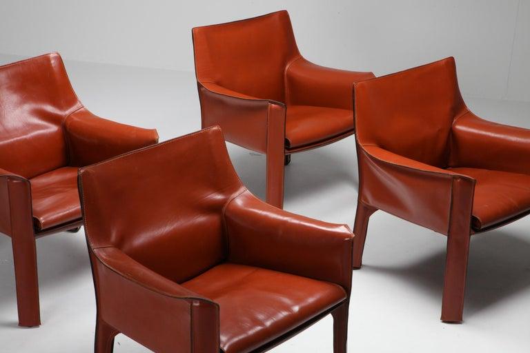 Italian Mario Bellini's CAB Armchair 414 for Cassina Italy For Sale