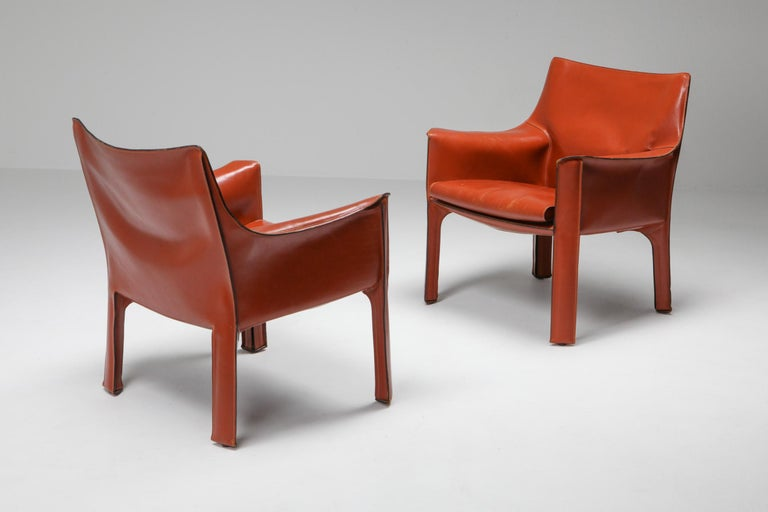20th Century Mario Bellini's CAB Armchair 414 for Cassina Italy For Sale