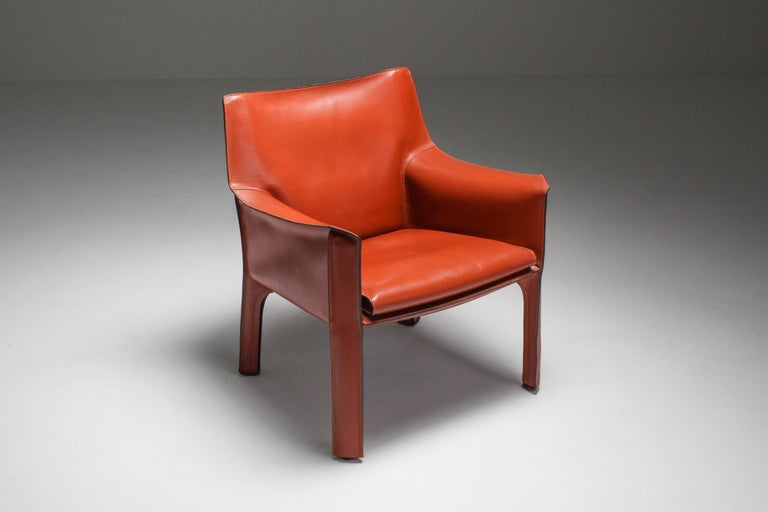 Mario Bellini's CAB Armchair 414 for Cassina Italy For Sale 1