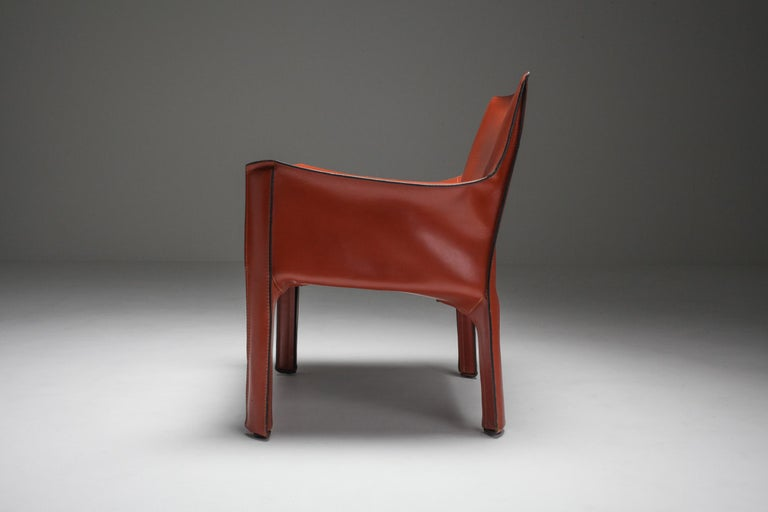 Mario Bellini's CAB Armchair 414 for Cassina Italy For Sale 2