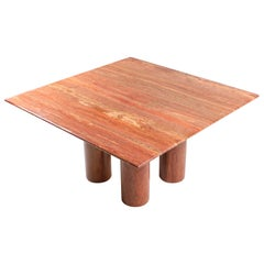 Mario Bellini's Red Travertine 'Il Collonato' Dining Table
