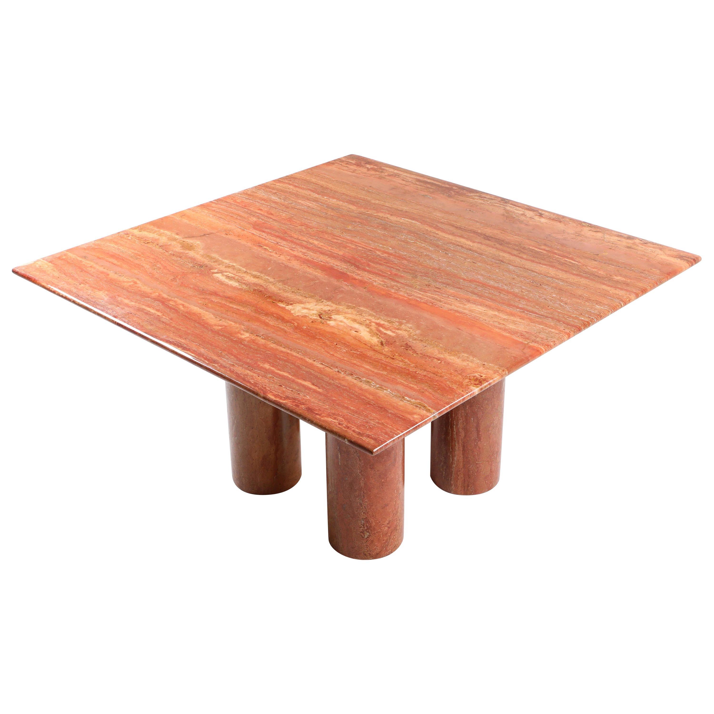 Mario Bellini's Red Travertine 'Il Collonato' Dining Table
