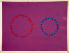 Circles on Pink - Original Acrylic Painting by Mario Bigetti - 2020