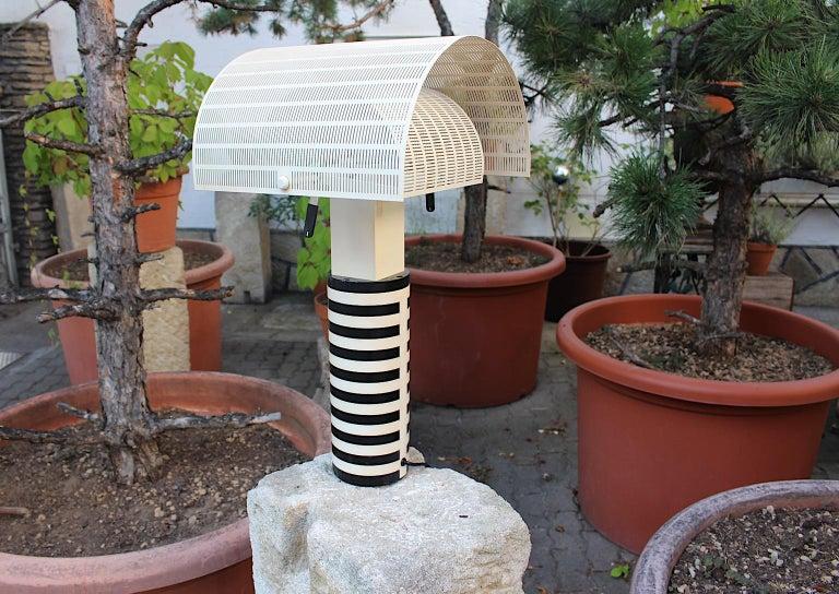 Mario Botta Black and White Vintage Table Lamp Shogun, 1980s, Italy 10