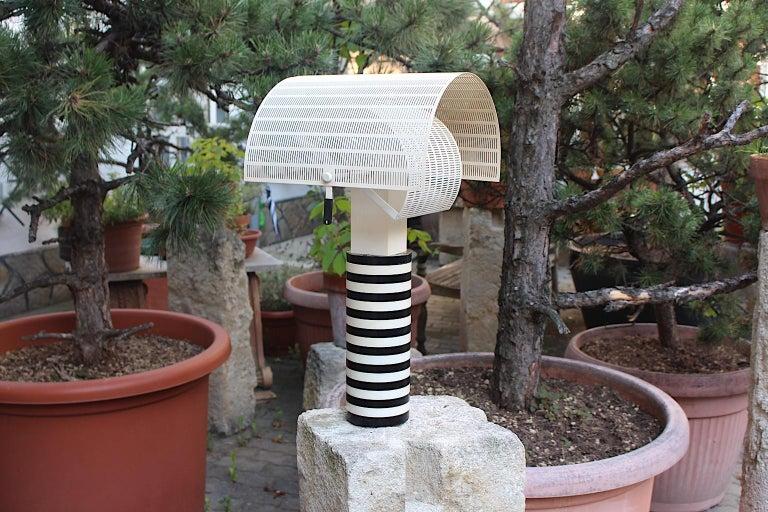 Mario Botta Black and White Vintage Table Lamp Shogun, 1980s, Italy 11