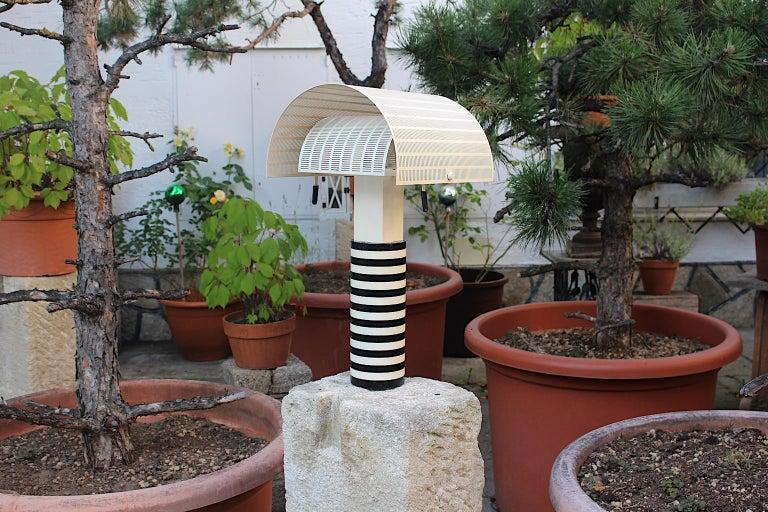 Mario Botta Black and White Vintage Table Lamp Shogun, 1980s, Italy 12