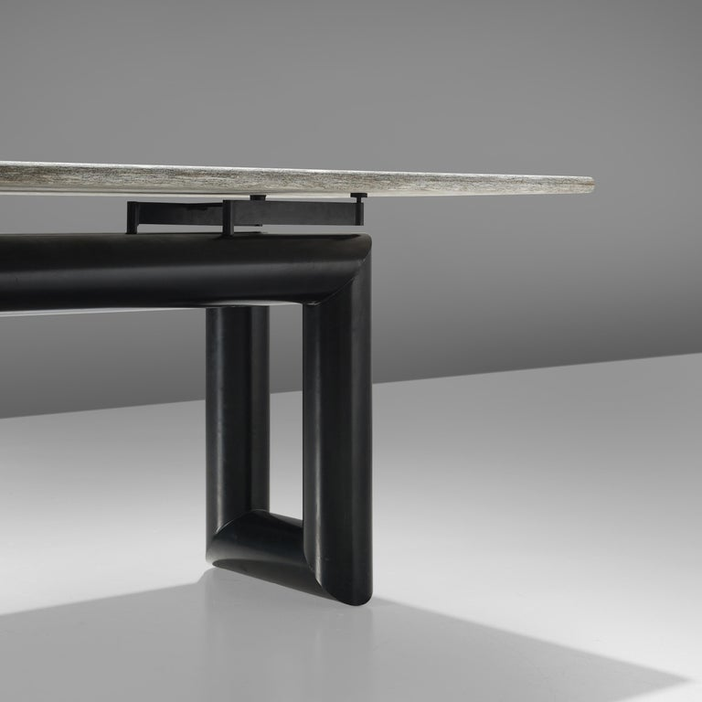 Post-Modern Mario Botta Dining Table Model 'Terzo' with Granite Top For Sale