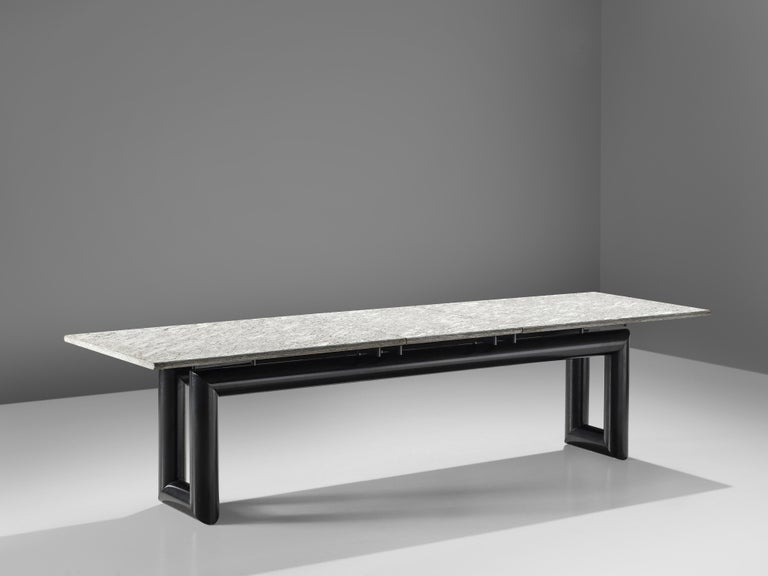 Italian Mario Botta Dining Table Model 'Terzo' with Granite Top For Sale