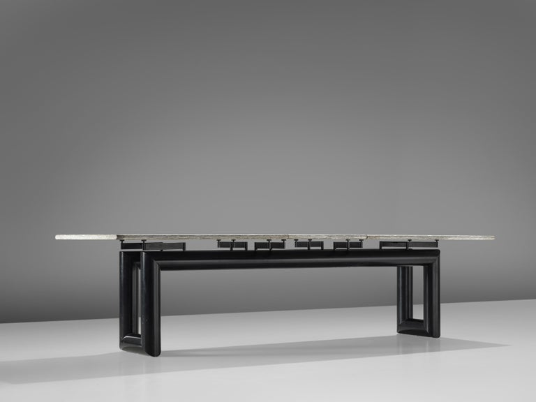 Late 20th Century Mario Botta Dining Table Model 'Terzo' with Granite Top For Sale