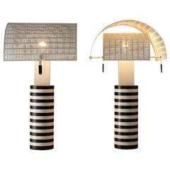 Mario Botta for Artemide Pair of Bicolor 'Shogun' Table Lamps