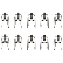 "Mario Botta ""La Quinta"" Chairs for Alias, 1985, Set of 10"