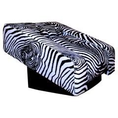 """Mario Botta """"Obliqua"""" Lounge Chair Rare Original Fabric Alias, 1983"""