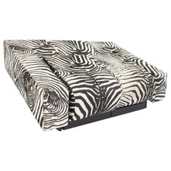 Mario Botta, Radical Sofa Mod, Obliqua by Alias 1983 in Rare Zebra Fabric
