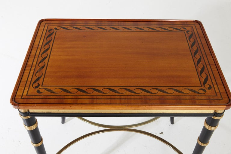 Mario Buatta for John Widdicomb Regency Style Ebonized End Table For Sale 5
