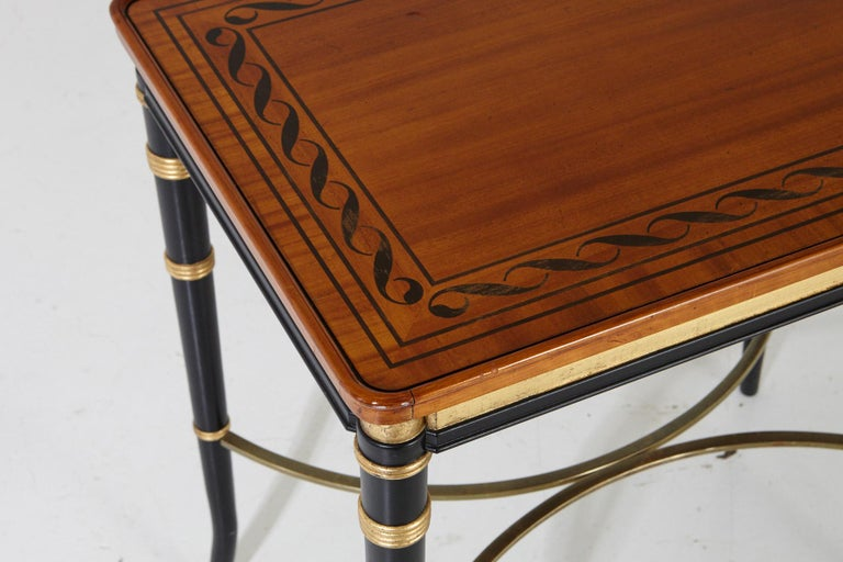 Mario Buatta for John Widdicomb Regency Style Ebonized End Table For Sale 1