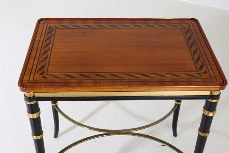 Mario Buatta for John Widdicomb Regency Style Ebonized End Table For Sale 2