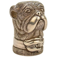 Mario Buatta's Kieselstein-Cord Dedicated Sterling Silver Bulldog Paperweight