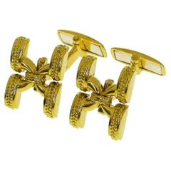 Mario Buccellati 18 Karat Yellow Gold Cufflinks