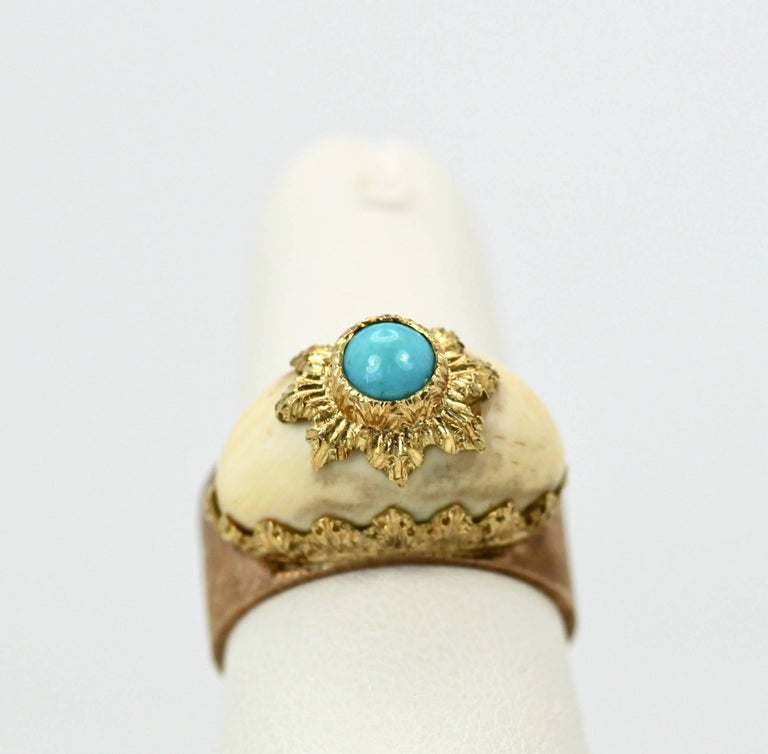 For all Buccellati collectors here is a rare item to collect especially since this is part of a set. These were made by the master himself in the early 1960's. This ring has an open back allowing for different ring sizes. I picked these up at an