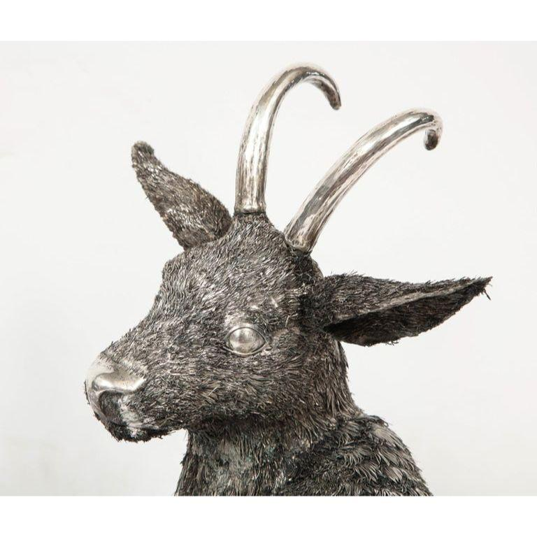 Mario Buccellati, a Rare and Exceptional Italian Silver Goat For Sale 7