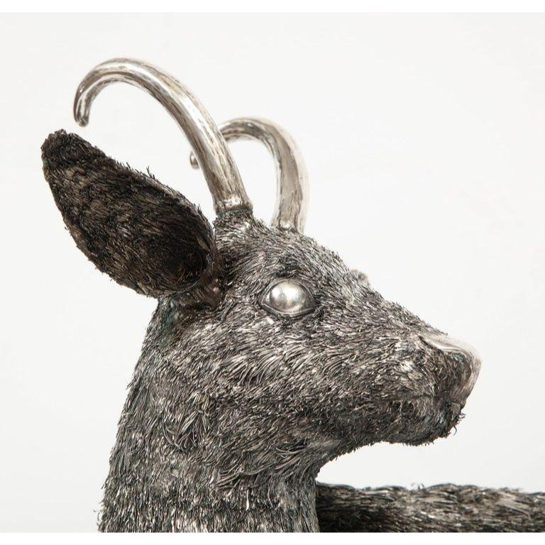 Mario Buccellati, a Rare and Exceptional Italian Silver Goat For Sale 1