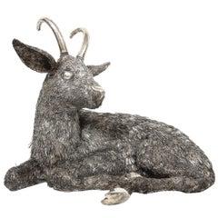 Mario Buccellati, a Rare and Exceptional Italian Silver Goat
