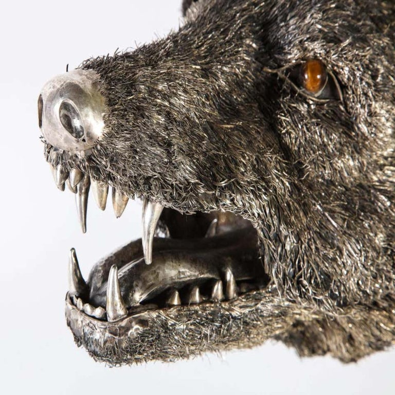 Mario Buccellati a Rare and Exceptional Nearly Life-Size Silver Wolf, circa 1970 For Sale 7