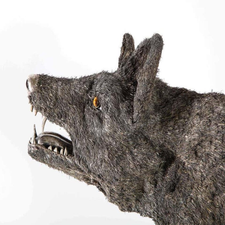 Mario Buccellati a Rare and Exceptional Nearly Life-Size Silver Wolf, circa 1970 For Sale 9