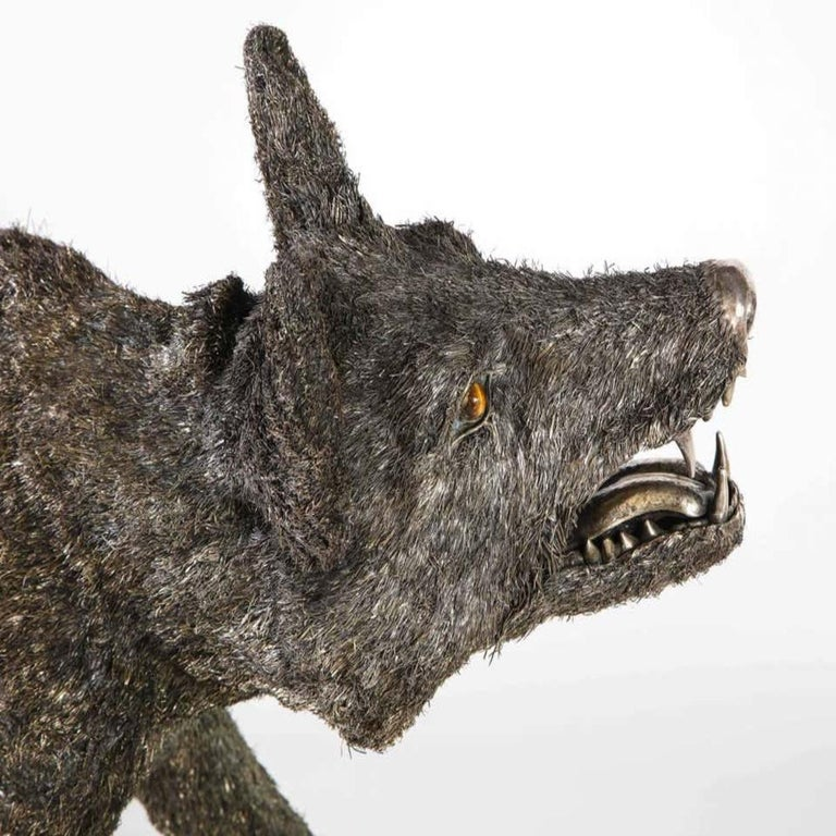 Mario Buccellati a Rare and Exceptional Nearly Life-Size Silver Wolf, circa 1970 For Sale 13