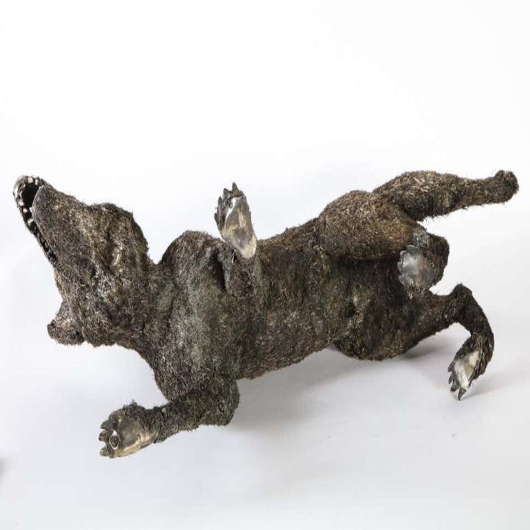 Mario Buccellati a Rare and Exceptional Nearly Life-Size Silver Wolf, circa 1970 For Sale 15