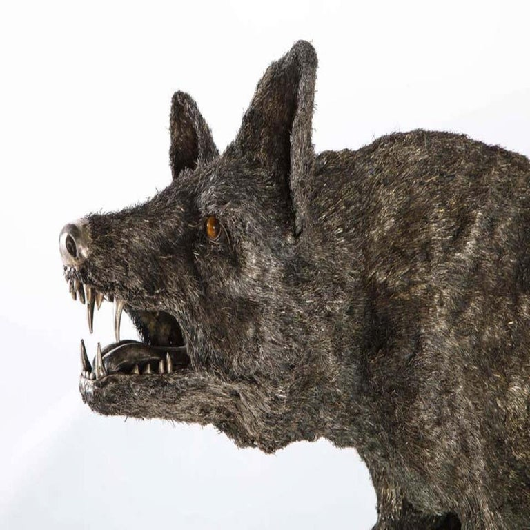 Mario Buccellati a Rare and Exceptional Nearly Life-Size Silver Wolf, circa 1970 For Sale 1