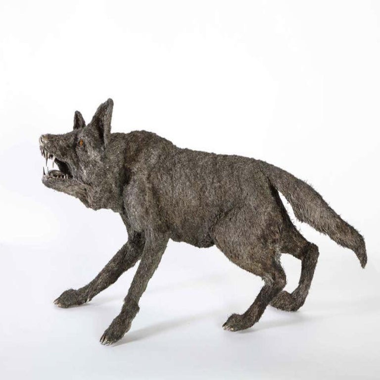 Mario Buccellati a Rare and Exceptional Nearly Life-Size Silver Wolf, circa 1970 For Sale 2