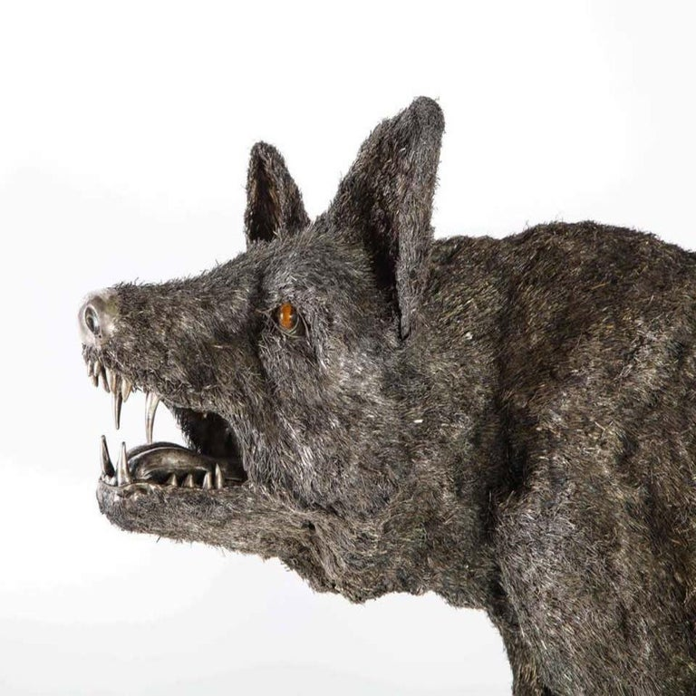 Mario Buccellati a Rare and Exceptional Nearly Life-Size Silver Wolf, circa 1970 For Sale 3