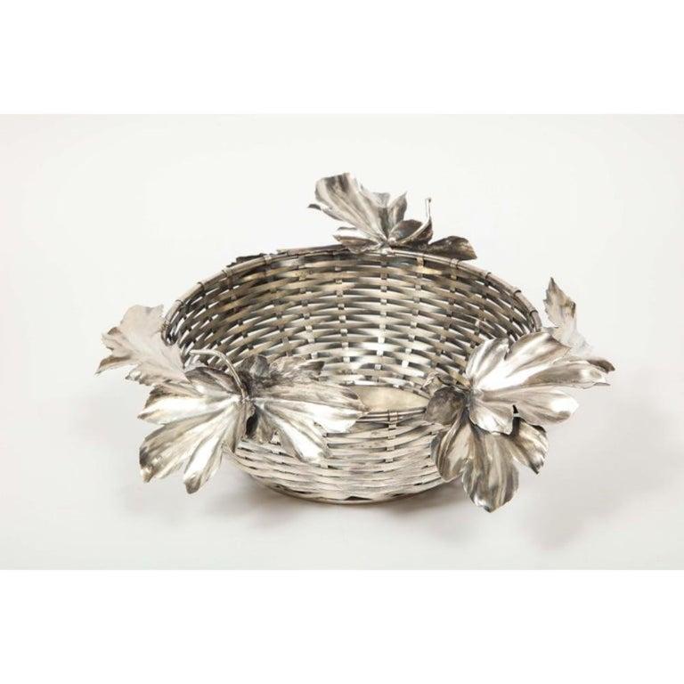 Mario Buccellati, an Italian Silver Fruit Basket Centerpiece 6