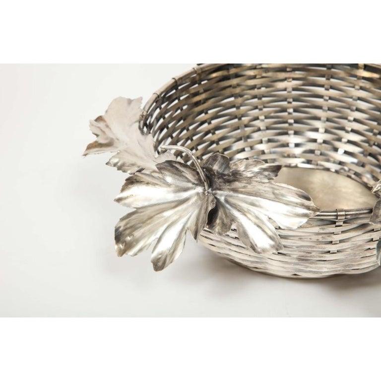 Mario Buccellati, an Italian Silver Fruit Basket Centerpiece 7