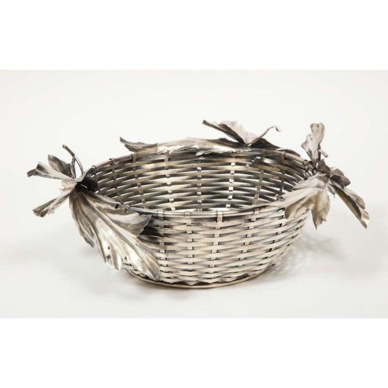 Mario Buccellati, an Italian Silver Fruit Basket Centerpiece 8