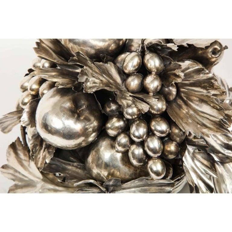 Mario Buccellati, an Italian Silver Fruit Basket Centerpiece 12