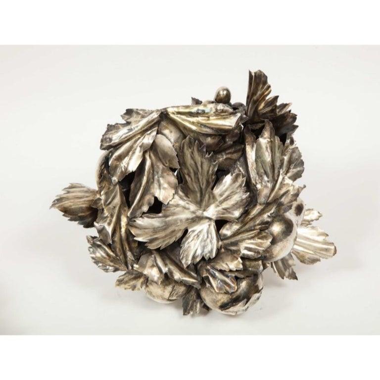Mario Buccellati, an Italian Silver Fruit Basket Centerpiece 13