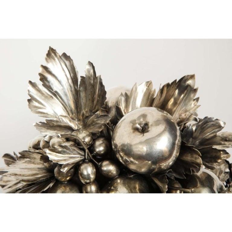 Mario Buccellati, an Italian Silver Fruit Basket Centerpiece 14