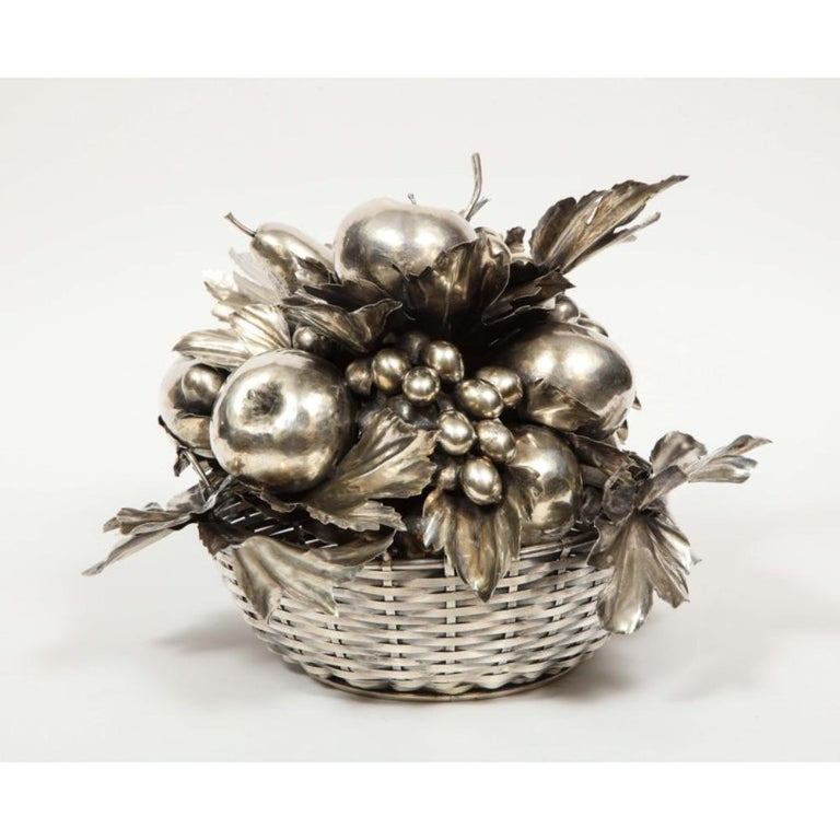 Women's or Men's Mario Buccellati, an Italian Silver Fruit Basket Centerpiece