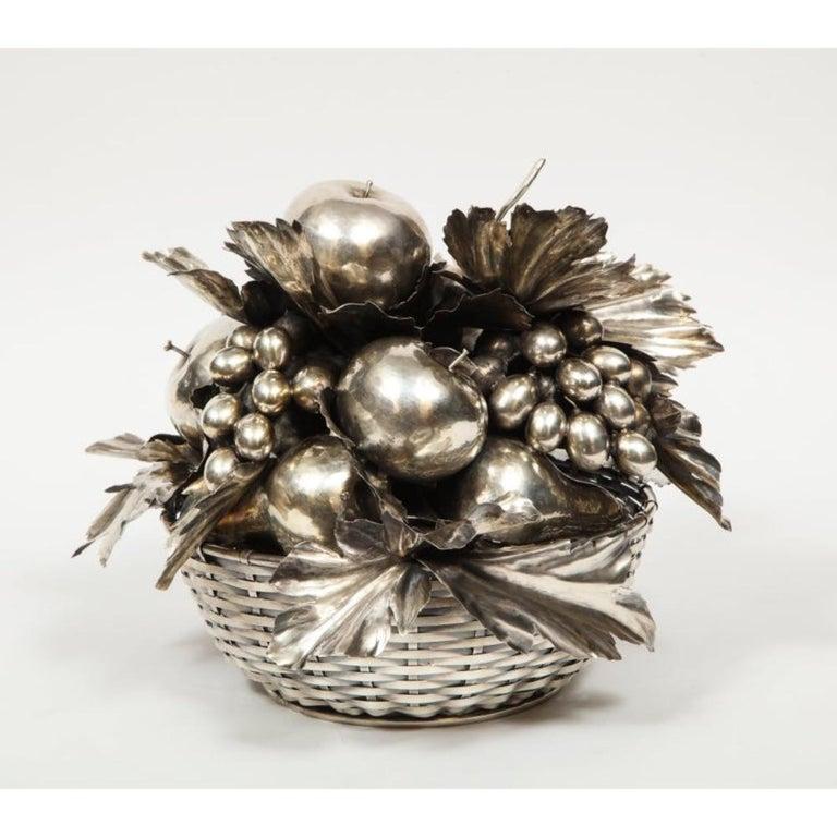 Mario Buccellati, an Italian Silver Fruit Basket Centerpiece 1