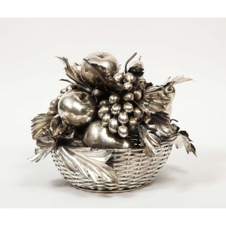 Mario Buccellati, an Italian Silver Fruit Basket Centerpiece 2