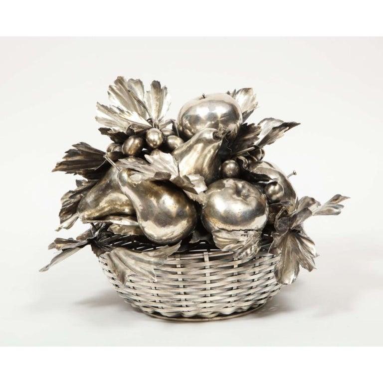 Mario Buccellati, an Italian Silver Fruit Basket Centerpiece 3